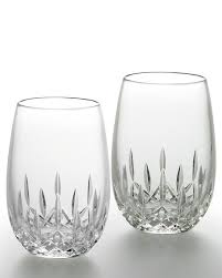 waterford crystal l base waterford crystal lismore nouveau stemless wine glasses