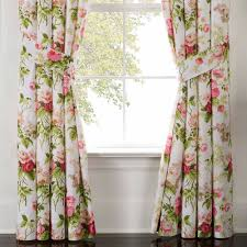 Floral Curtains Emmas Garden Floral Window Treatment By Waverly