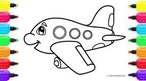 how to draw plane coloring pages for kids youtube videos for