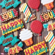 530 best birthday cookies images on birthday cookies