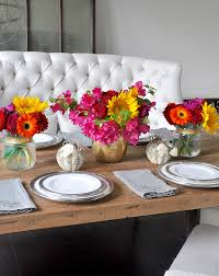 Fall Floral Decorations - summer to fall floral arrangement for a casual evening decor
