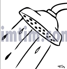 free drawing of shower head bw from the category building home