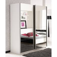 armoire de chambre à coucher armoire chambre blanche 4 portes impressionnant miroir dans chambre