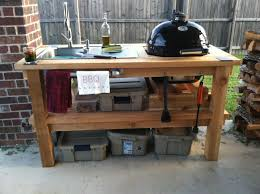 Backyard Grill Cypress by Primo Junior Home Made Cedar Grill Stand Around Our Home