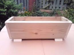 new flower planter wooden treated v shape trough garden planter