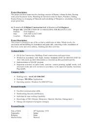 Sample Resume For Civil Site Engineer by Civil Engineer