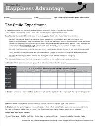this is goodthink u0027s smile experiment worksheet that turns our