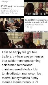 Funny Spiders Memes Of 2017 - 1 day ago spider man homecomin trailer 2017 kinocheck international
