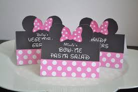 minnie mouse card table customized food labels classic mouse clubhouse birthday party