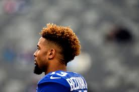 odell beckham jr haircut name odell beckham jr s suspension upheld out for sunday s game vs