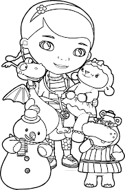 doctor mcstuffins coloring pages stretching doc mcstuffins