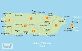 Google Map Puerto Rico by Map Of Puerto Rico Puerto Rico Regions Rough Guides Rough Guides