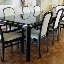 black lacquer dining room chairs vintage lane lido black lacquer dining room table and chairs ebth