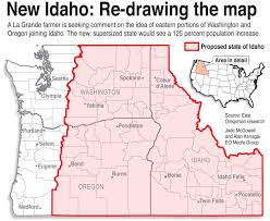 Map Of Oregon And Washington State by Eastern Washington And Eastern Oregon To Join Idaho Petition