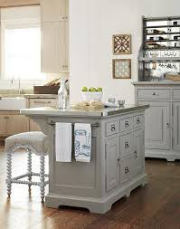 dogwood collection kitchen island with stainless wrapped metal top