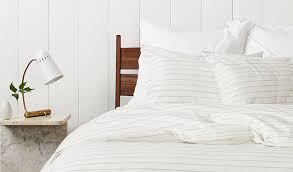 Ivory Duvet Cover Set Stitch Stripe Behind The Design Styling Tips Parachute Blog