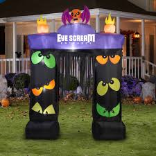 gemmy airblown inflatable 9 5 u0027 x 7 u0027 archway eye scream halloween