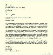 Rejection Letter Sle Uk rejection letter after templatezet