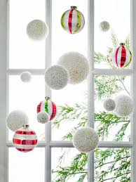 shredded mylar i will be some of these styrofoam ornaments covered with