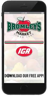 mobile application for bromley u0027s market iga available for apple
