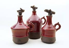 handmade ceramic bottles wheel thrown ceramic bottles set