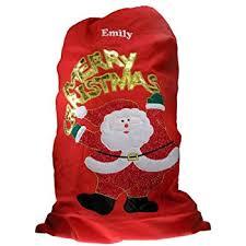 deluxe santa sack personalised santa sack embroidered santa sack