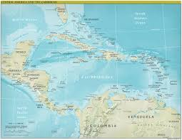 Map Of America Continent by Central America Continent Physical U2022 Mapsof Net