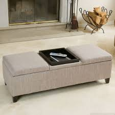 Wood Storage Ottoman Furniture Inspiring Large Ottoman Tray For Home Furniture Ideas