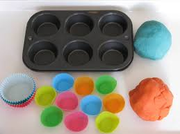 play dough cupcakes learning 4 kids