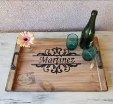 personalized photo serving tray personalized wood serving tray the artsy fartsy studio