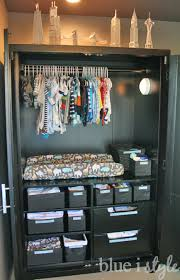 organizing with style armoire baby central blue i style
