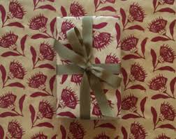 floral gift wrap etsy