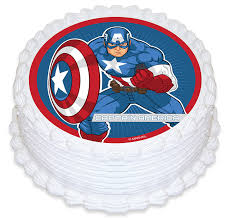 captain america cake topper captain america cake image the party stop