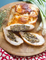 leek and stuffed turkey breast fall thanksgiving dishes