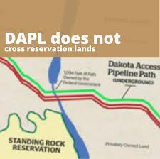Standing Rock Reservation Map Dapl Facts Bakken Backers
