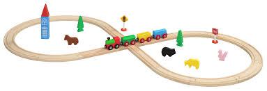 maxim 32 piece figure 8 wooden train set