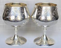 wedding goblets silver plated goblet etsy