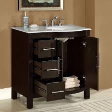 off center sink bathroom vanity bathroom bathrooms design amazoncom silkroad exclusive carrara