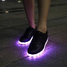 light shoes for mens classic usb led shoes led stripe lighting shoe light glowing