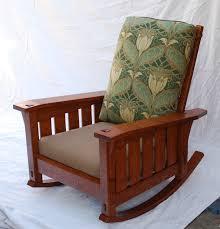 Mission Oak Rocking Chair Voorhees Craftsman Mission Oak Furniture Morris Chairs