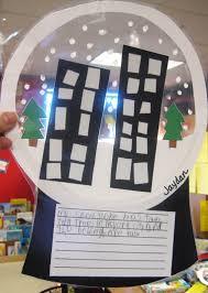 first grade wow snow globes elementary arts pinterest