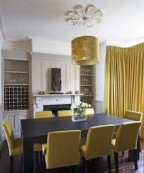 Yellow Dining Room Chairs Dining Room Yellow Fabric Dining Room Chair With Round Brown