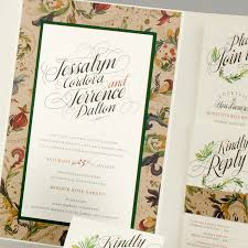 garden wedding invitation ideas floral wedding invitations by soiree custom paper u0026 co