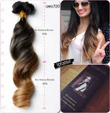 vpfashion hair extensions 20 inches two tone human hair extensions uwo720 for hot ombre