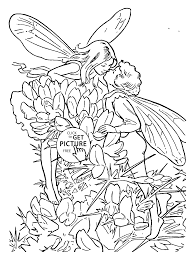 flower fairies gorse coloring page for kids for girls coloring