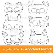 woodland forest animals coloring masks woodland animal mask