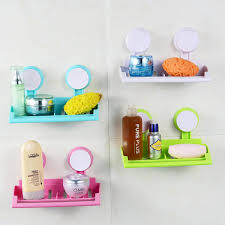 Suction Sponge Holder Sink by Plastic Wall Mounted Bathroom Suction Cup Shower Soap Towel