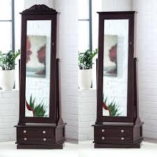 media center armoire standing jewelry box mirror computer cherry