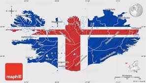 iceland map flag map of iceland flag rotated