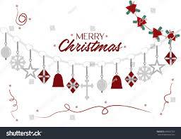 merry christmas vector illustration lettering background stock